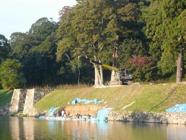 彦根城石垣の修理保存工事